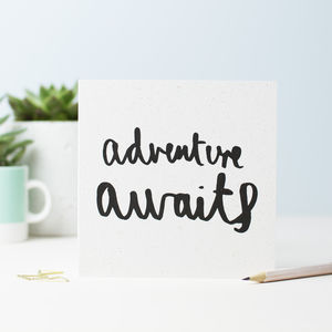 Adventure Awaits Greetings Card - shop by category