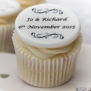 Personalised Wedding Cupcake Toppers - cake decoration