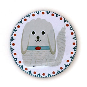 Finn The Doodle Pocket Mirror - compact mirrors