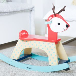 Personalised Wooden Reindeer Rocker Toy - rocking toys