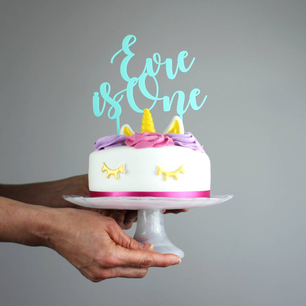 First Birthday Cake Topper Personalised