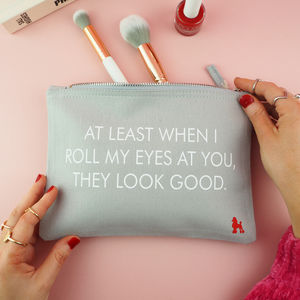 'Eye Roll' Make Up Bag