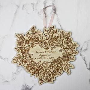 Engagement Wall Hanging Keepsake - summer sale