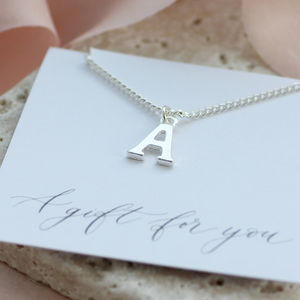 Silver Alphabet Charm Necklace - necklaces & pendants
