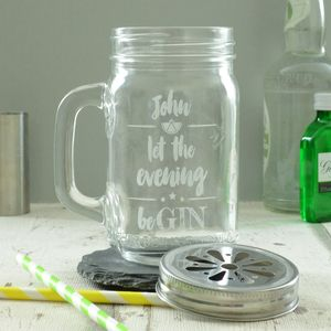 Gin Personalised Drinking Jar - home sale