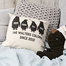 Square Penguin Family Cushion