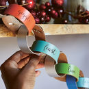 Personalised Leather Paperchain Christmas Decoration