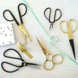 Traditional Black Iron And Brass Scissors - tools & equipment