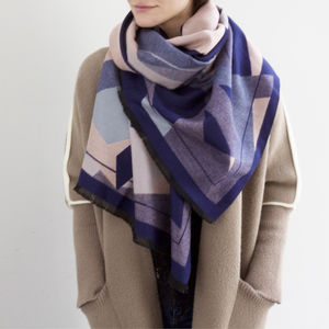 Personalised Cashmere And Geometry Shawl - heartfelt gifts for her