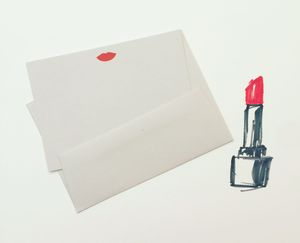 Letter Pressed Lips Notecards - notelets & writing paper