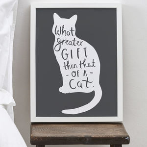 Cat Lover Print - children's pictures & paintings