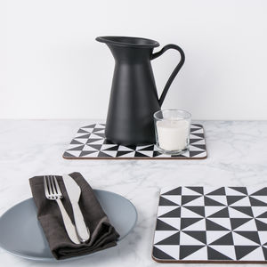 Geometric Triangle Placemat Set