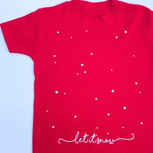 Childrens Christmas Let It Snow T Shirt - baby & child christmas clothing