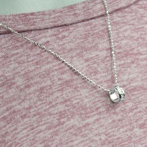 Best Friends Sterling Silver Charm Necklace
