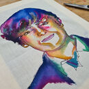 Personalised Embroidered Ink Portrait