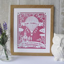 Hot Air Balloon Christening Papercut Art