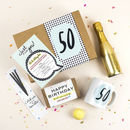 50th Birthday Gift Box 'Birthday In A Box' 50th