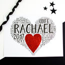Personalised Wife Girlfriend Christmas Heart Card