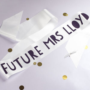 Personalised Papercut Style Bride To Be Sash - hen party ideas