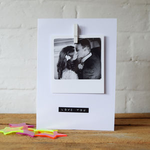 Polaroid Photo Personalised Card - father's day cards