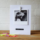 Personalised Polaroid Stamped Message Card