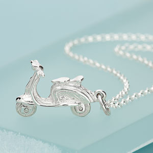 Personalised Sterling Silver Scooter Necklace