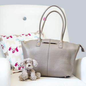 Wyn Leather Baby Changing Tote Bag