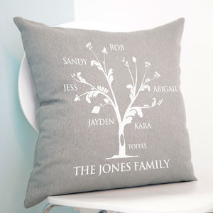 Personalised Family Tree Cushion - gifts for grandparents