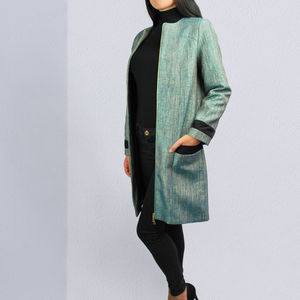 Imperia Smart Metallic Blue Coat - coats & jackets