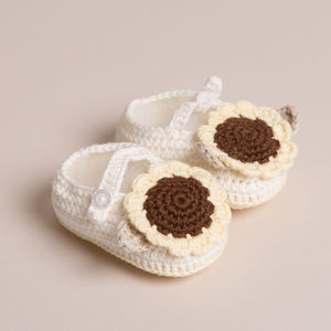 Handmade Baby Sunflower Shoes - socks, tights & booties
