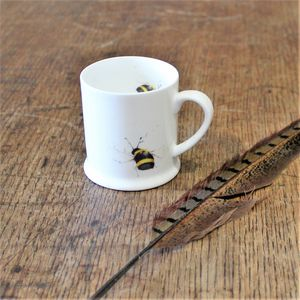 Bumble Bee Bone China Mini Mug - crockery & chinaware