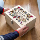 Personalised Arts And Crafts Wooden Box
