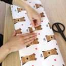 Personalised Heart And Dog Wrapping Paper