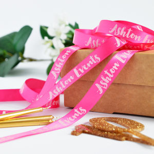 Business Branded 15mm Personalised Printed Ribbon