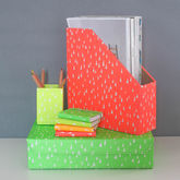 Recycled Fluoro Brights Desk Storage Set - stationery