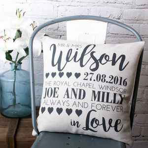 Wedding Cushion Cover - 2nd anniversary: cotton