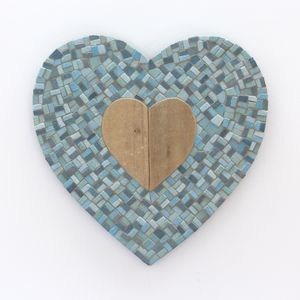 Driftwood Heart Mosaic Wall Art
