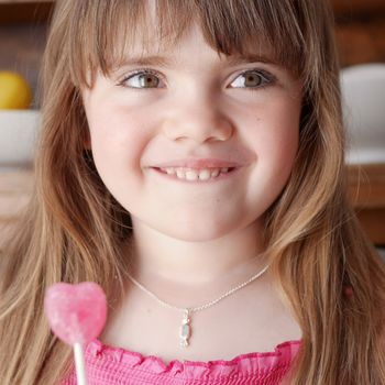 Childrens Silver Sweet Candy Necklace