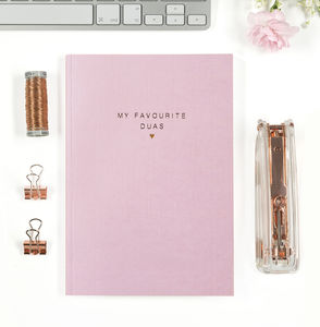 My Favourite Duas Rose Gold Foil Notebook