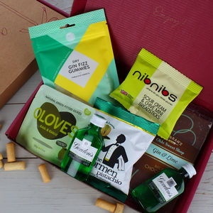 Gin And Nibbles Letterbox Gift Hamper - gin
