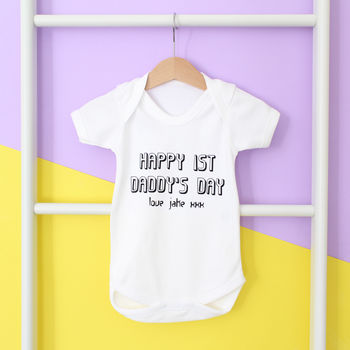 First Daddy's Day, Personalised Father'd Day Babygrow