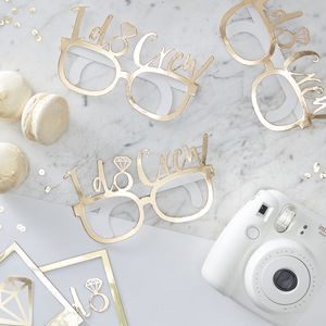 Gold Foiled I Do Crew Hen Party Fun Glasses - hen party ideas
