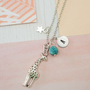 Personalised Giraffe Charm Necklace