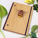 Wooden Bumble Bee Notebook