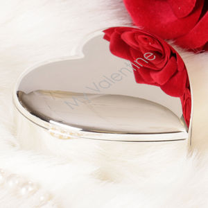 Personalised Silver Plated Heart Keepsake Box - bedroom