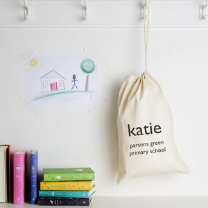 Personalised School Gym Kit Bag - children's room