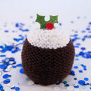 Hand Knitted Christmas Pudding Chocolate Orange