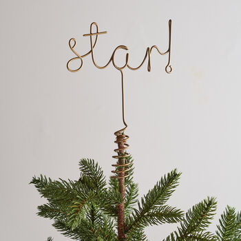 Star! Word Christmas Tree Topper
