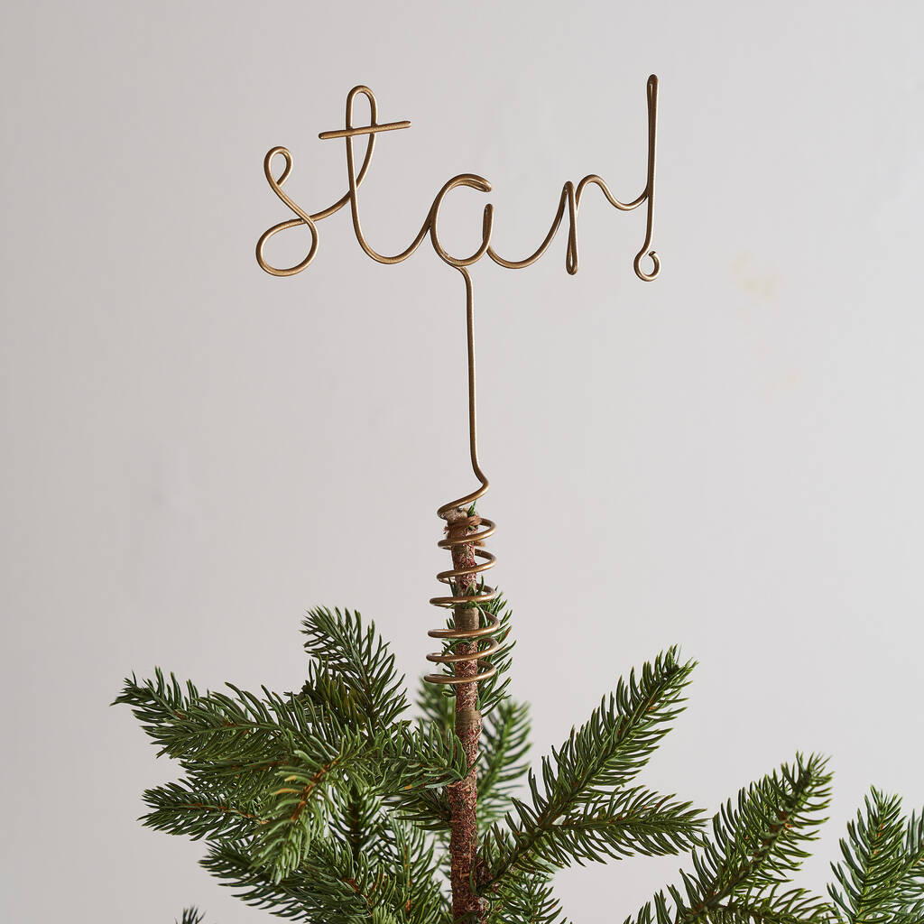 Christmas Tree Topper.Star Word Christmas Tree Topper