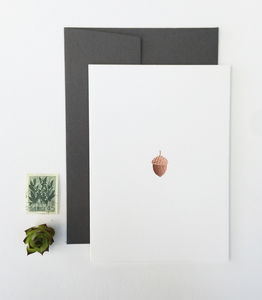 Acorn Christmas Cards, Set Of Six - cards & wrap